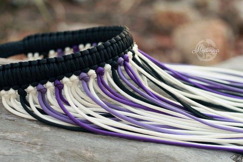 Fly Veil Browband - Purple, White