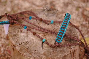 Halter Set - Brown/Blue