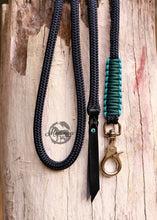 Load image into Gallery viewer, Lead Rope - Navy/Turquoise/Teal