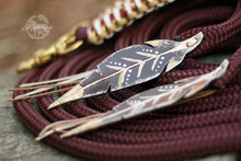 Load image into Gallery viewer, SE Split Reins - Burgundy Bling