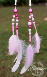 Mane Clips and Necklace combo; pink