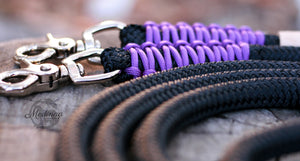 Rope Reins - Black/ Purple