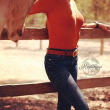 Load image into Gallery viewer, IN STOCK Leather Belt - Horse Lover - Medium