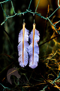IN STOCK Leather Earrings - Lilac