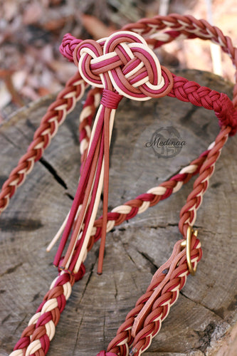 Fairytale Bridle; Burgundy/Brown/Beige