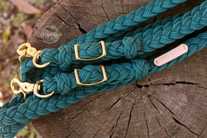Braided Reins - Teal