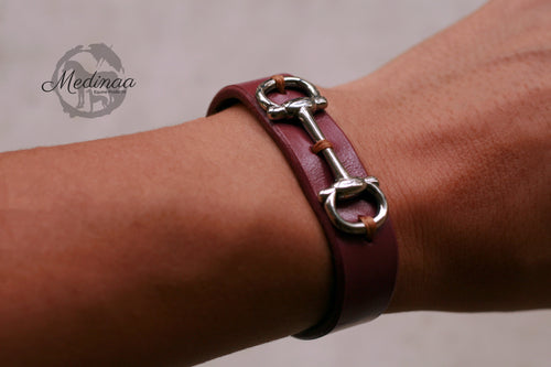 IN STOCK Leather Bracelet - Windsor - 8 inches
