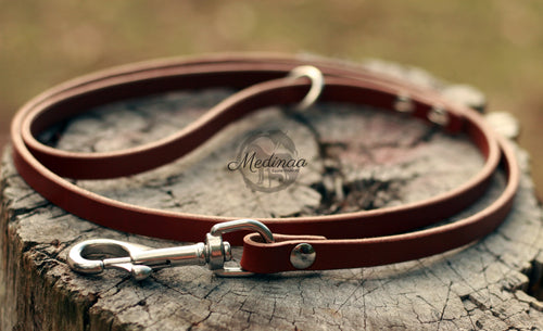 IN STOCK Leather Dog Leash - Tan