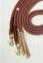 Load image into Gallery viewer, Rope Reins - Chocolate