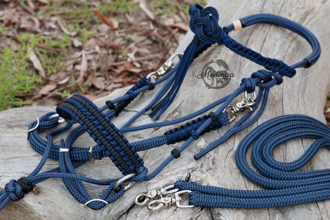 3in1 Comfort Bitless Bridle - Midnight Blue