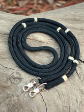 Load image into Gallery viewer, Reins - Black with Ranger Beads