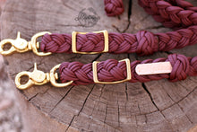 Load image into Gallery viewer, Braided Reins - Burgundy/Plum