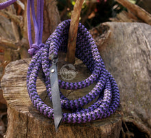 Load image into Gallery viewer, IN STOCK Rope Halter and 8ft Lead Rope - Purple - Arab/Small Cob