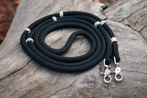 Reins - Black with Ranger Beads