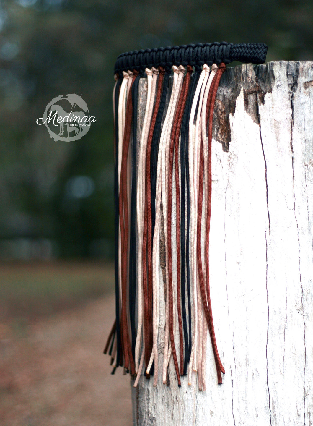 Fly Veil Browband - Black and Brown