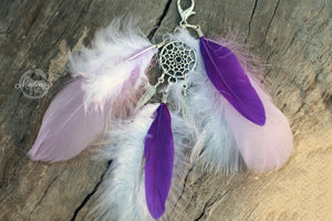 Feather Clip-on - Purple