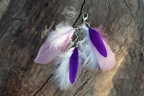Feather Clip-on; Purple