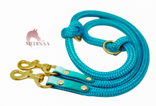 Load image into Gallery viewer, Hybrid Dog Leash - Turquoise Ombré