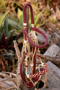 3in1 Comfort Bitless Bridle; Desert Rose