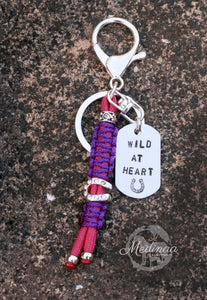 """Wild at Heart"" Keychain - Fuchsia/Purple"