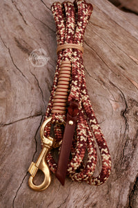 Lead Rope - Burgundy Cowgirl