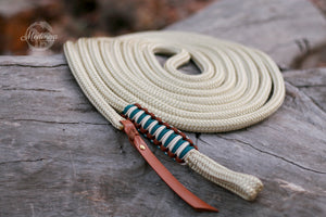 Lead Rope - Champagne/Chocolate/Teal