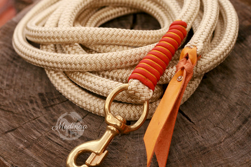 Lead Rope - Champagne/Orange