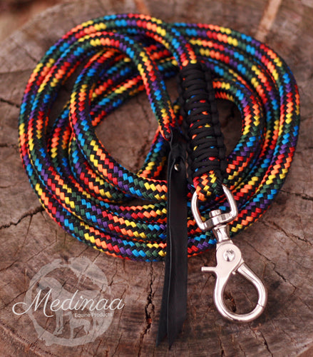 Lead Rope - Black Rainbow