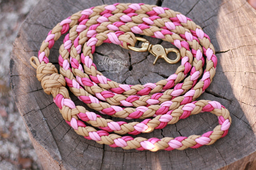 IN STOCK - Dog Leash - Pink/Gold