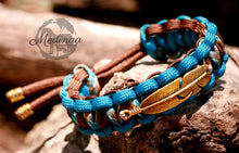 Load image into Gallery viewer, Paracord Bracelet; Golden Feather