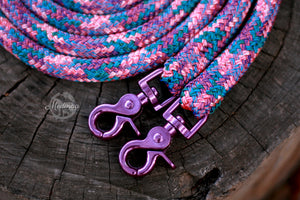 IN STOCK Rope Reins - Purple Unicorn - 8ft