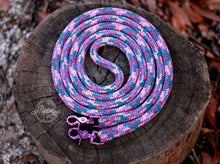 Load image into Gallery viewer, IN STOCK Rope Reins - Purple Unicorn - 8ft