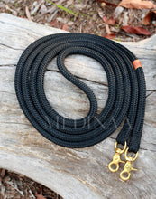 Load image into Gallery viewer, Rope Reins - Black