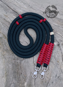 Rope Reins - Black/ Red