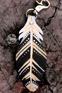 Saddle Charm - Black/Gold