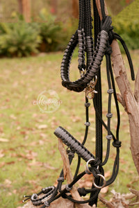 Side Pull Bitless Bridle; Dark Monotone