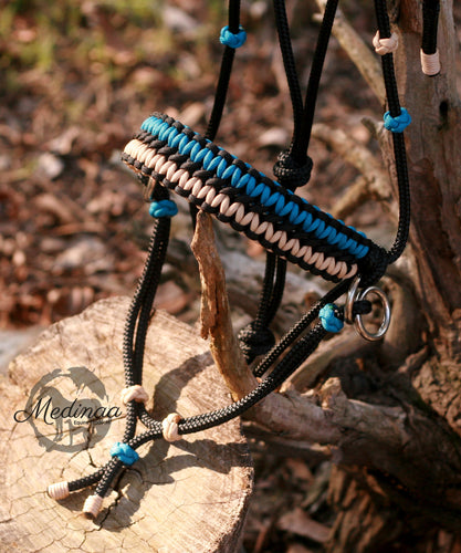 Side Pull Bitless Bridle; Caribbean/Black
