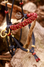 Load image into Gallery viewer, Side Pull Bitless Bridle; Navy/Burgundy