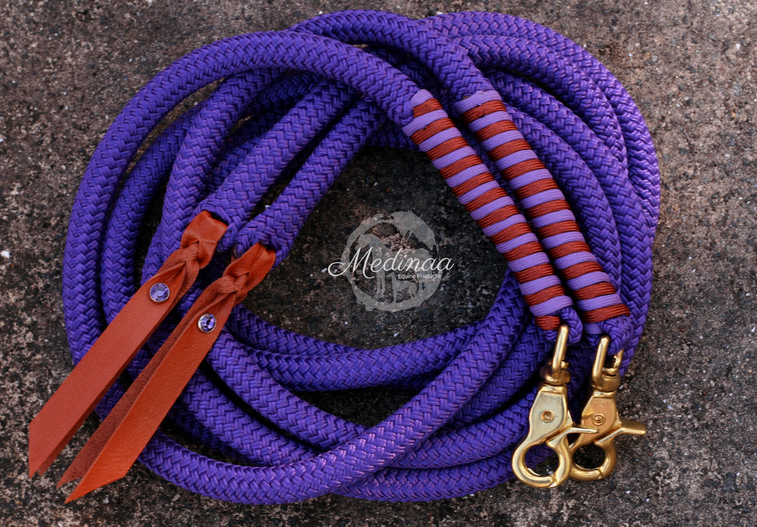 Split Reins - Purple/Rust