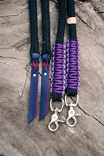 Load image into Gallery viewer, IN STOCK Split Reins - Black/Purple