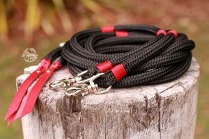 Split Reins - Black/Red