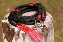 Load image into Gallery viewer, Split Reins - Black/Red