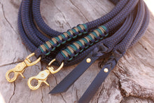 Load image into Gallery viewer, Split Reins - Navy/Khaki/Teal