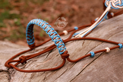 Training Halter - Baby Blue/ Chocolate