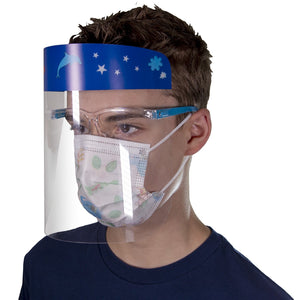 Kid's Eyeglass Style Face Shields (3 pcs) - Boys