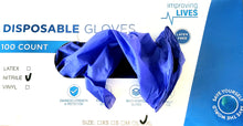 Load image into Gallery viewer, Disposable Ingron Nitrile Gloves, 4 ml, 100 ct Box