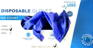 Disposable Ingron Nitrile Gloves, 4 ml, 100 ct Box