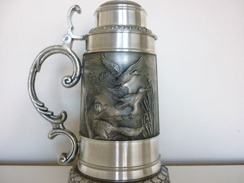 Pewter Hunting Stein-Large