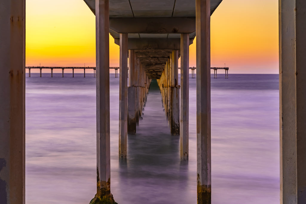 Ocean Beach Pier San Diego by McClean Photography