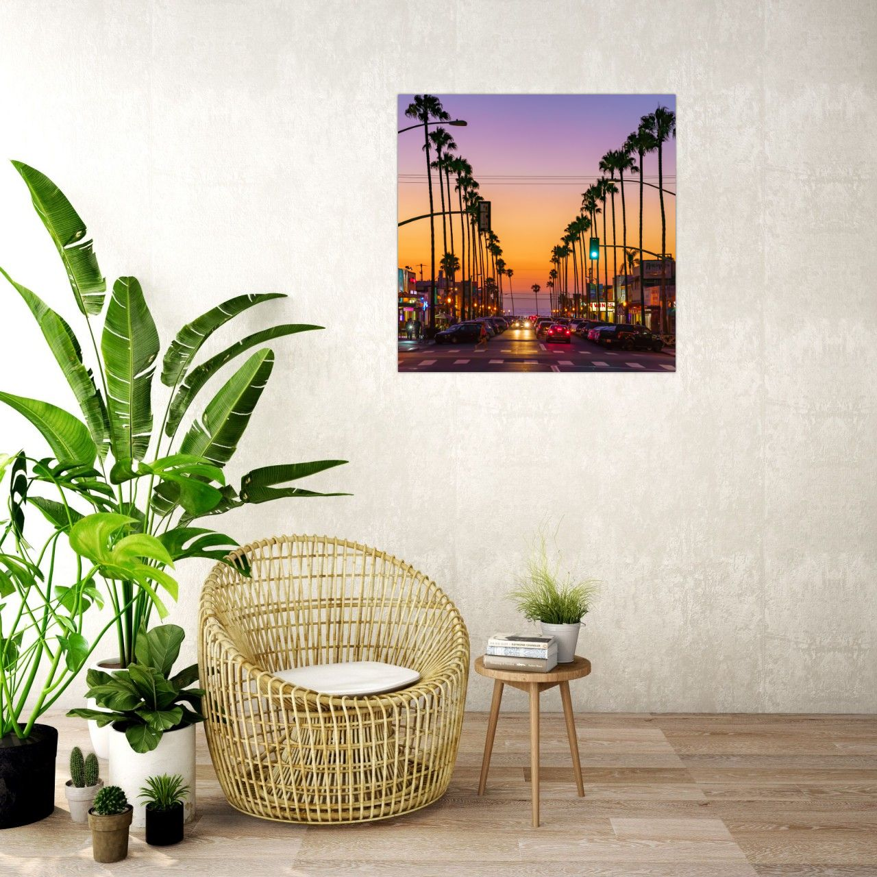Newport Avenue - Ocean Beach, San Diego Modern Metal Wall Art Print by McClean Photography